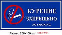 """Табличка """"Не палити"""" Код-03764"""
