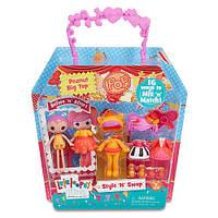 Набор мини лалалупси с одеждой и аксессуарами Lalaloopsy Minis Style N Swap Doll - Peanut Big Top