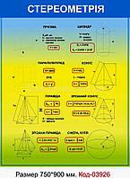 Стенд з математики Код-03926