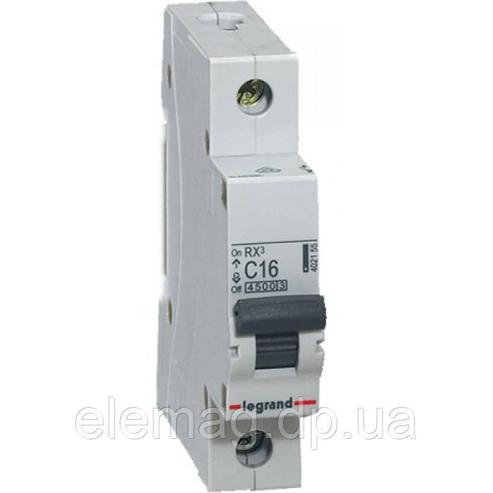 Автоматический выключатель 1 полюс 10A тип C 4,5кА Legrand серии RX³