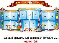 Визитка школы стенд Код-04125