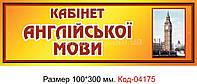 Табличка Код-04175