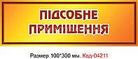 Табличка на двери Код-04211