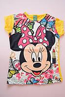 """Летняя  футболка  для девочек с """"Минни Маус"""" 1-2, 5-6 лет.Турция!Детская летняя одежда!"""