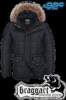 Куртка зимняя мужская на меху Braggart Dress Code - 1360C черная