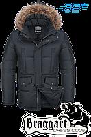 Куртка зимняя мужская на меху Braggart Dress Code - 1360B графит