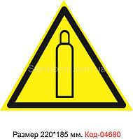 """Знак """"Газовый баллон"""" Код-04680"""