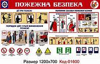 Уголок пожарной безопасности Код-01600