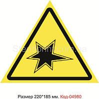 Знак предупреждающий Код-04980