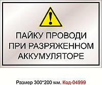 Табличка пластикова Код-04999