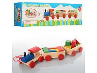 Деревянная игрушка каталка Паровозик MD 0710 Woody