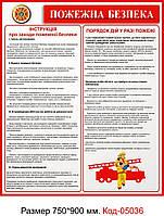 Уголок пожарной безопасности Код-05036