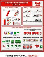 Уголок пожарной безопасности Код-05037