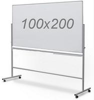 Оборотно-мобильная маркерная доска 100х200см