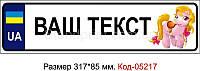 Номер на коляску Код-05217