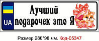 Номер на коляску Код-05347