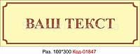 Табличка на двери Код-01847