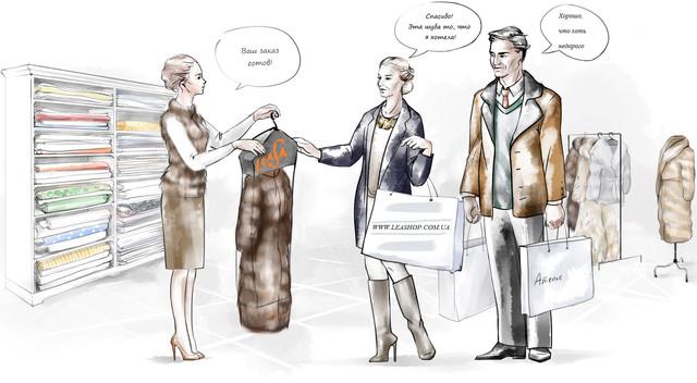 индивидуальный пошив, шуба под заказ в Украине