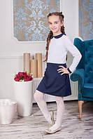 Комбинированное платье для школы