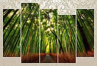 "Модульная картина ""Бамбуковый лес"""