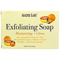 Madre Labs, Отшелушивающее мыло с маслом ши, марулы и таману, цитруса, 5 унций (141 г), фото 1