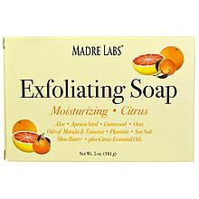 Madre Labs, Отшелушивающее мыло с маслом ши, марулы и таману, цитруса, 5 унций (141 г)