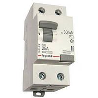 Устройство защитного отключения (УЗО) 2 полюса 25А 30мА тип АС Legrand серии RX3