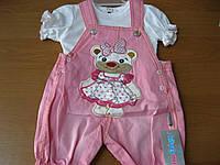 Детский нарядный песочник для девочки + футболка Турция 74 см