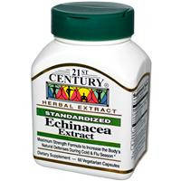 Экстракт эхинацеи, 21st Century Health Care, Echinacea Extract, 60 капсул