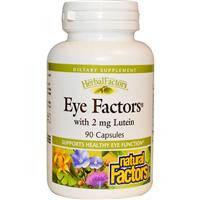 Витамины для глаз с лютеином, Natural Factors, Eye Factors with 2 mg Lutein, 90 Capsules