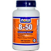 В-50, Now Foods, B-50, 50mg, 100 капсул