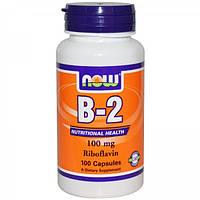 Витамин B-2 (Рибофлавин), 100 капсул