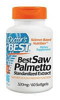 Со Пальметто, Saw Palmetto, 60 гелевых капсул, Doctor's Best