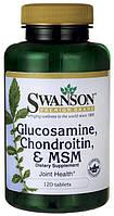 Глюкозамин хондроитин и МСМ, 120 таблеток, Swanson