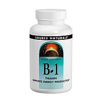 Витамин B-1, тиамин, 100 мг, 100 таблеток, Source Naturals, США