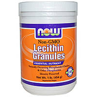 Лецитин в гранулах, Now Foods, Lecithin Granules, 454 грамма