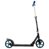 Самокат складной для детей и для взрослых OXELO MID7 (синий)