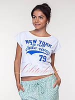 Короткая Футболка New York белая