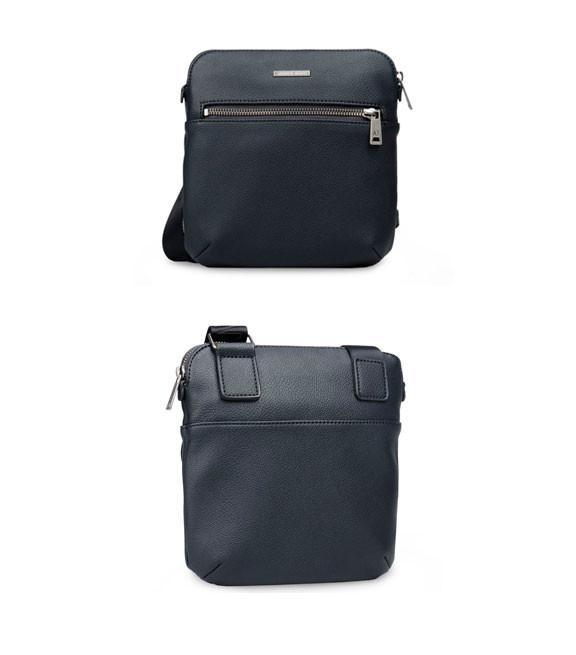 Мужская сумка Armani Piattina 2016 темно-синего цвета