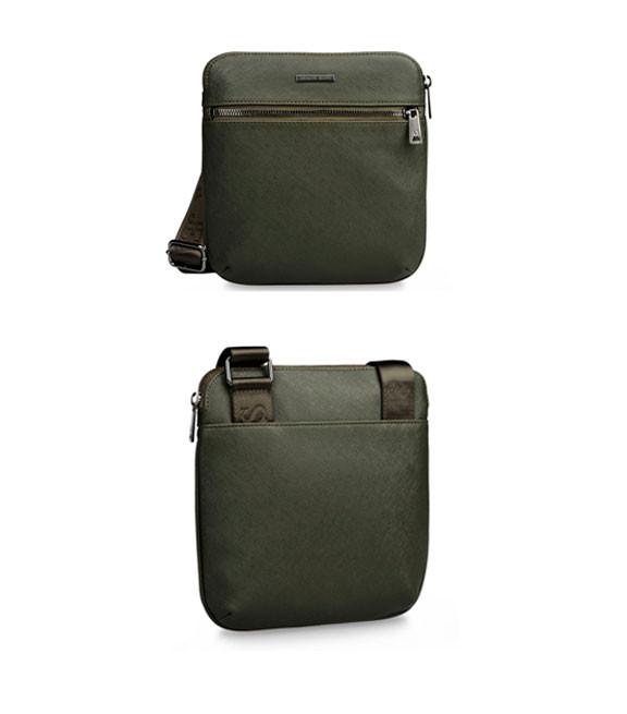 Мужская сумка Armani Piattina 2016 темно-зеленого цвета
