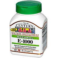 Природный витамин Е - 1000, 21st Century Health Care, 55 кап.