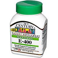 Природный витамин Е - 400, 21st Century Health Care, 110 кап.