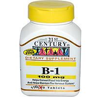 Тиамин,21st Century Health Care,100 мг, 110 табл.