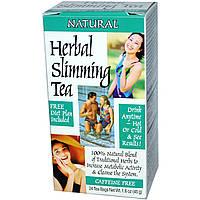 Чай для похудения травяной, 21st Century Health Care, 24 пак.(45 г)