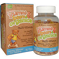 Витамины для детей, 90 жевательных мишек, Hero Nutritional Products, Yummi Bears Organics, Multi-Vitamin,
