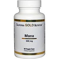Мака, 500 мг, 90 овощных капсул, California Gold Nutrition, Organic Maca, купить, цена, отзывы