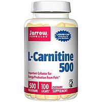 L-карнитин, Jarrow Formulas, 500 мг, 100 капсул