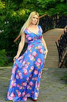 Женское платье из шелка в цветочный принт