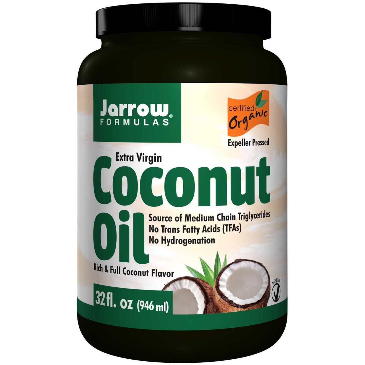 Кокосовое масло натуральное высокой степени очистки, Jarrow Formulas, органическое, 908 г - ⭐FREELIFE⭐ интернет-магазин натуральных препаратов для здоровья №➀ в Украине в Киеве