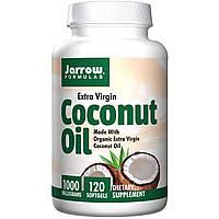 Кокосовое масло холодного отжима, нерафинированное, Jarrow Formulas, 1000 мг, 120 капсул